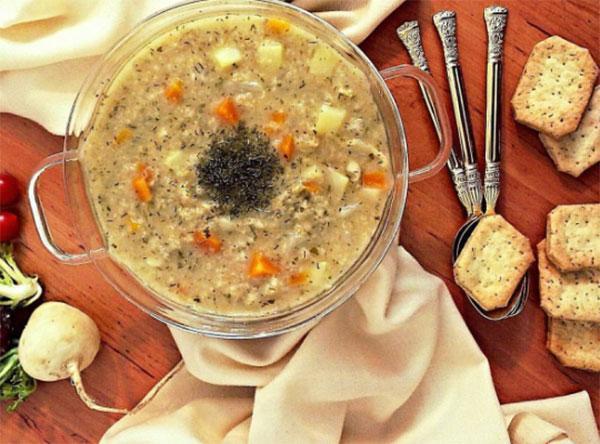 طرز تهیه سوپ شلغم و قارچ خوشمزه