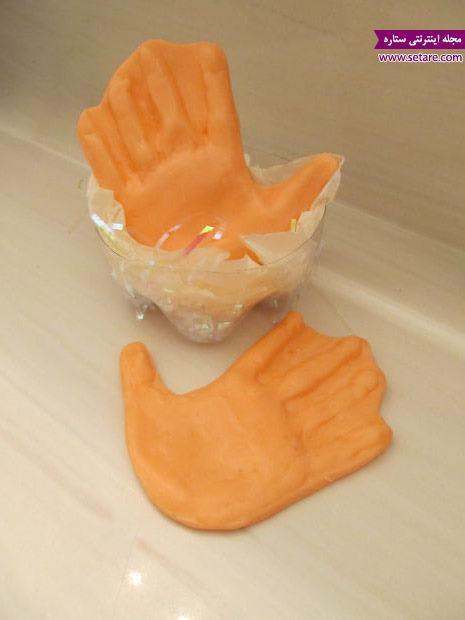 درست کردن صابون به شکل دست!