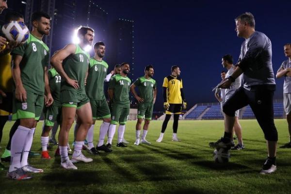 اولین تمرین تیم ملی فوتبال ایران در بحرین