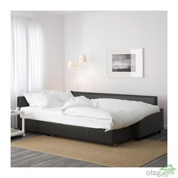 مدل مبل راحتی تخت شو مناسب دکوراسیون اتاق نشیمن های کوچک